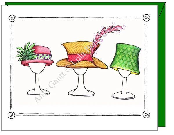 Congratulations - Hat Trio Greeting Card