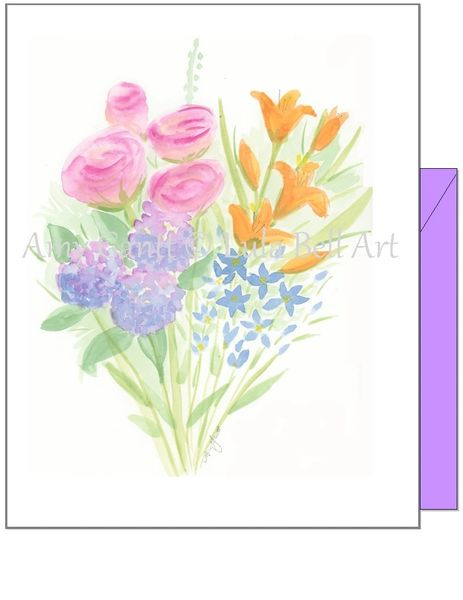 Spring Bouquet Boxed Note Cards