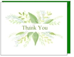 Thank You Spray Boxed Note Cards