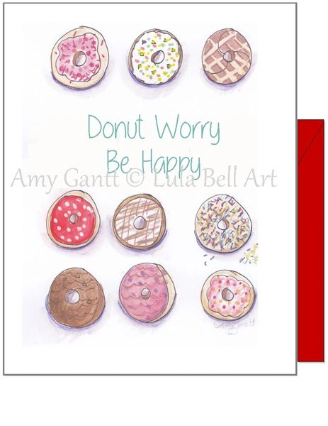 Encouragement - Donut Encouragement Greeting Card