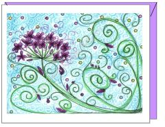 Get Well - Purple Filaree Greeting Card