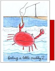 Get Well - Beach Crab Greeting Card