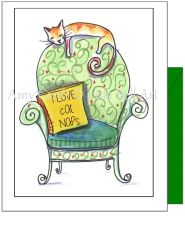 Get Well - Lazy Cat Greeting Card