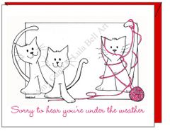 Get Well - All Tied Up Greeting Card
