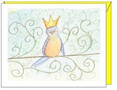 Birthday - Bird Queen Greeting Card