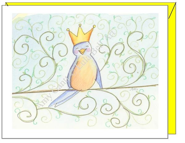 Birthday - Bird Queen Greeting Card