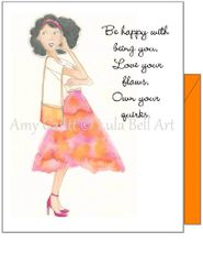 Friendship - Pondering Polly Greeting Card