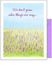 Encouragement - Lavender Grows Greeting Card