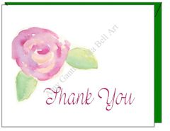 Thank You - Rose Thank You Greeting Card