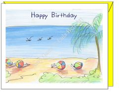Birthday - Beachy Birthday Greeting Card