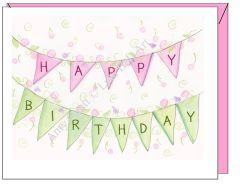 Birthday - Birthday Banner Greeting Card