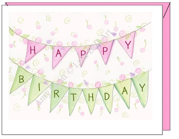 Birthday - Birthday Banner Greeting Card