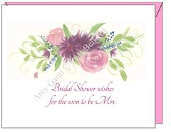 Bridal Shower - Bridal Shower Wishes Greeting Card