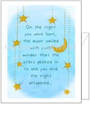 Baby - On the night you were Born Greeting Card