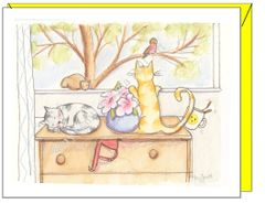 Friendship - Cats, Bird and Squirrel Greeting Card