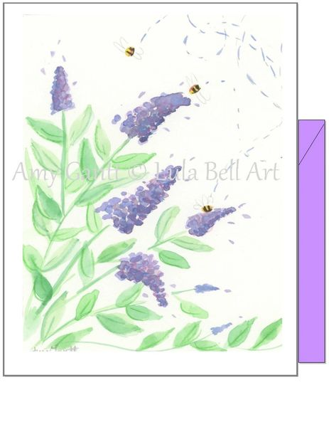 Birthday - Bee Three Greeting Card