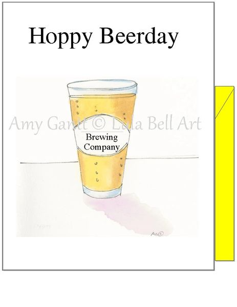 Birthday - Hoppy Beerday Greeting Card