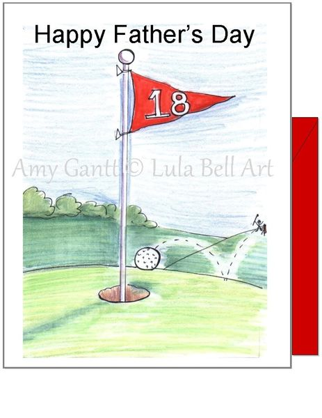 Father's Day - Hole in One Greeting Card