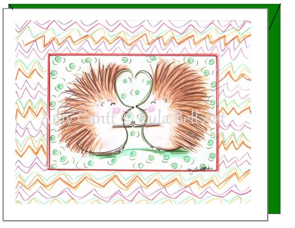 Friendship - Hedgehog Buddies Greeting Card