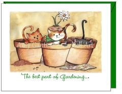 Friendship - Gardending Kitties Greeting Card