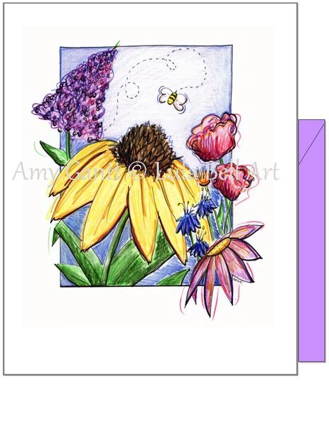 Thinking of You - Bee One Greeting Card