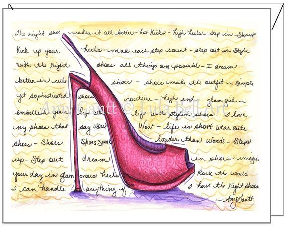 Friendship - Pink Stiletto Greeting Card