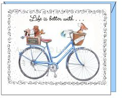 Friendship - Blue Bike Greeting Card