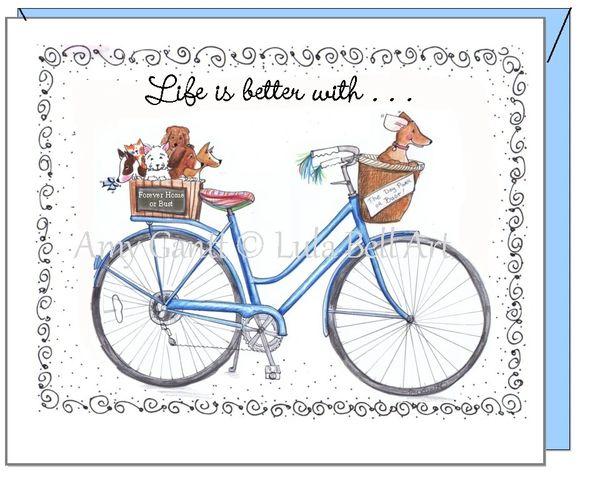 Friendship - Blue Bike Greeting Card