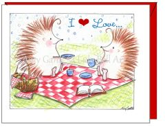 Friendship - Hedgehog Picnic Greeting Card
