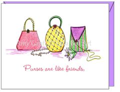 Friendship - Pretty Purses Greeting Card