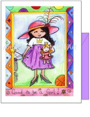 Friendship - Good To Be A Girl Greeting Card