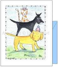 Friendship - Pets Greeting Card