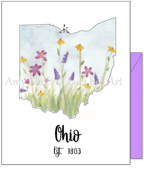 Ohio Flowers Note Cards