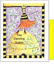 Friendship - Dancing Queen Bee Greeting Card