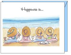 Friendship - Bathing Beauties Greeting Card
