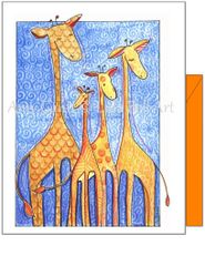 Friendship - Wild Giraffe Family Greeting Card