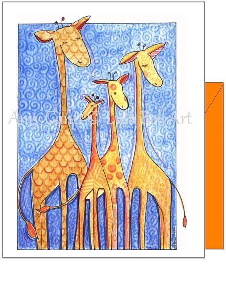 Friendship - Wild Giraffe Family Greeting Card