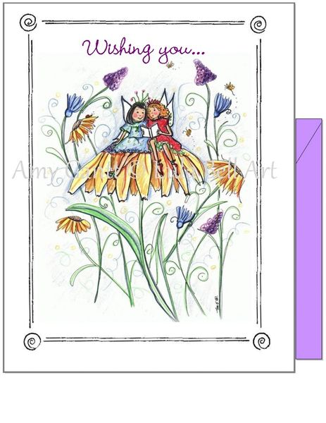 Birthday - Garden Reading Greeting Card