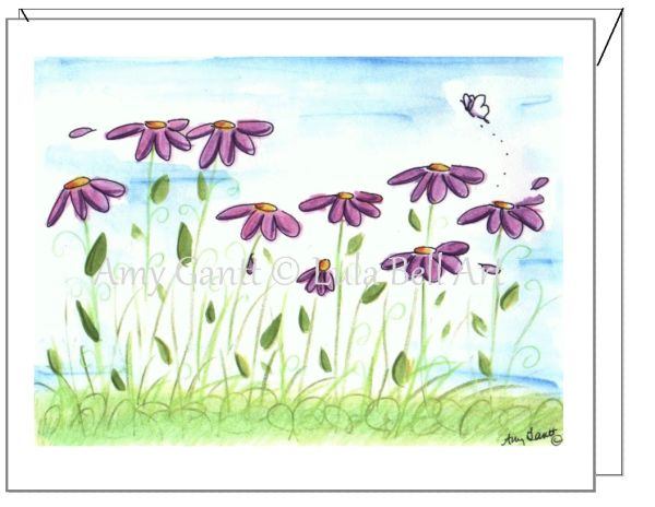 Sympathy - Field of Memories Greeting Card