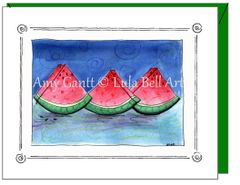 Friendship - Watermelon Greeting Card