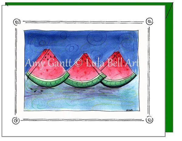 Friendship - Watermelon Greeting Card