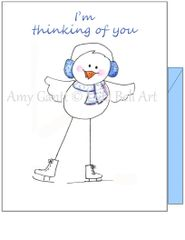 Thinking of You - Happy Bird Greeting Card