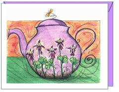 Thinking of You - Columbine Teapot Greeting Card