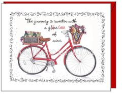 Blank inside - Red Bike Greeting Card