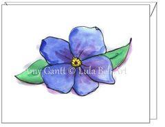 Sympathy - Blue Coastal Flower Greeting Card