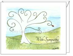 Sympathy - Tree of Life Greeting Card