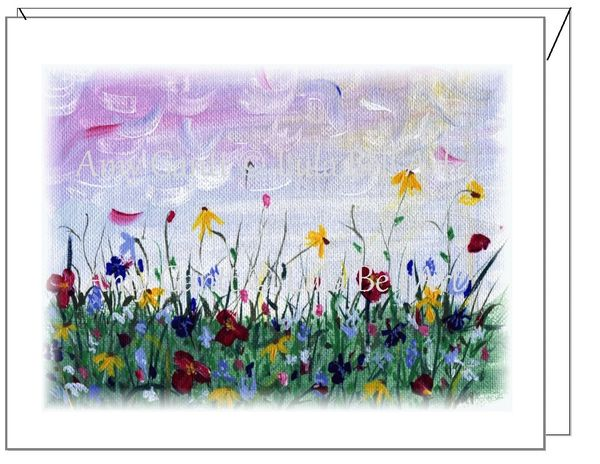Sympathy - Wildflowers Greeting Card