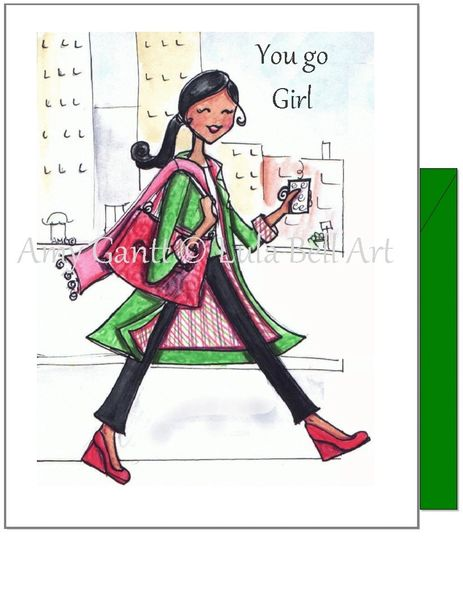 Encouragement - City Girl Greeting Card