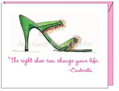 Encouragement - Cute Shoe Greeting Card