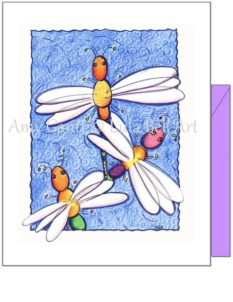 Encouragement - Dragonflies Greeting Card